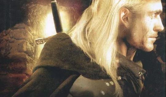 Recorte de la portada de The Witcher por Andrzej Sapkowski.