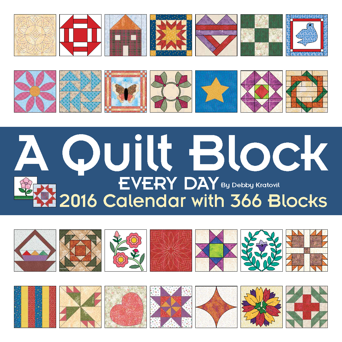 I'm pretty sure the big box stores will have it in the calendar section.  These blocks are taken just from my first 2 years of blocks! Is my head  empty yet?