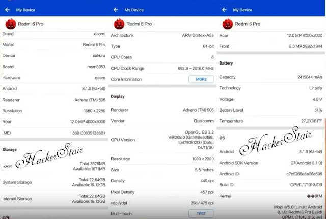 Redmi Note 6 Pro Antutu Benchmark