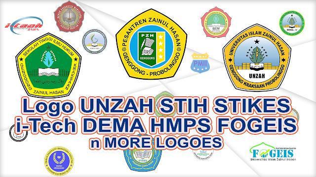 Logo UNZAH STIH STIKES i-Tech DEMA HMPS FOGEIS PRAMUKA PMII