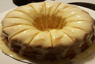 Vanilla Buttermilk Pound Cake With Cream Cheese Glaze