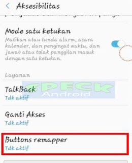 menu Aksesibilitas android