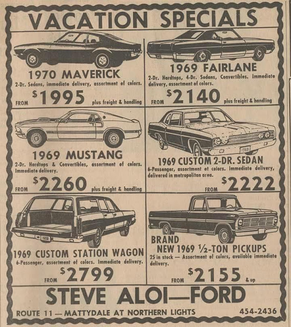 Vacations Specials (cars) The price is the joke.