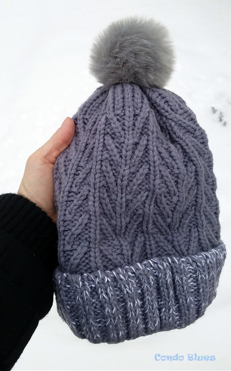 how to make a pompom hat the easy way