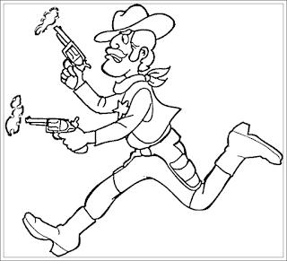 Ausmalbilder Cowboy Zum Ausdrucken