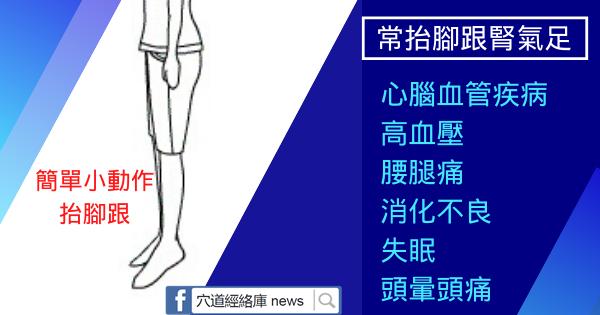 常抬腳跟腎氣足,腎氣足了睡得香(心腦血管疾病)