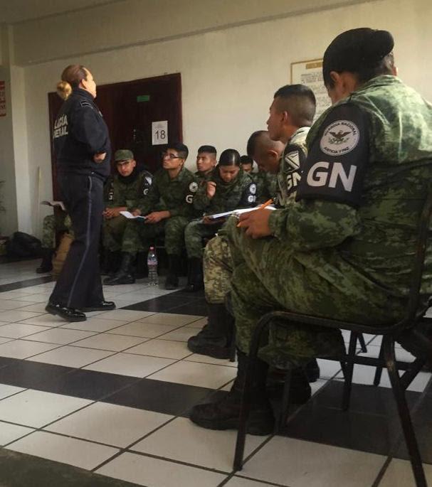 INTEGRANTES DE GUARDIA NACIONAL SON CAPACITADOS EN MATERIA DE FEMINICIDIO