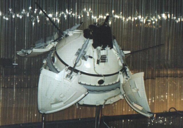 Mars 3 Lander model at the Memorial Museum of Cosmonautics in Russia.