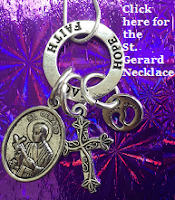 saint gerard for fertility necklace