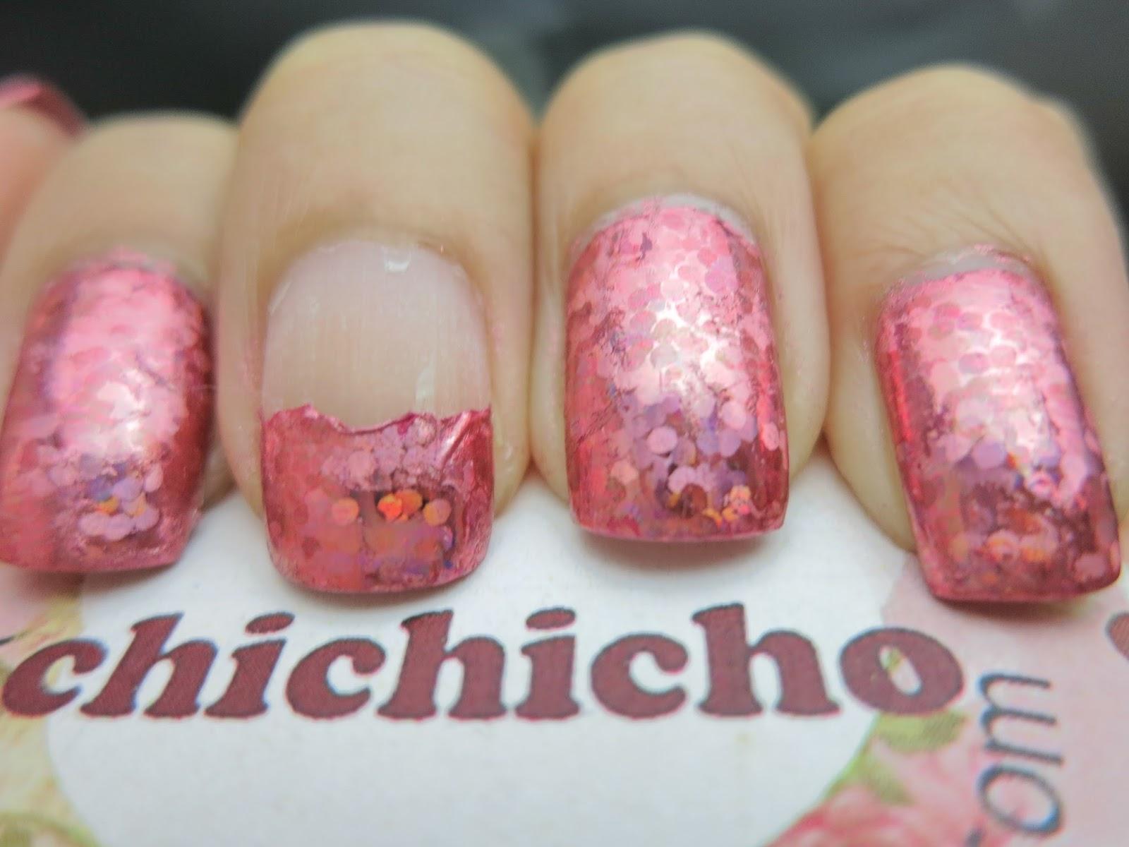 Pink Glittery Specks Nail Foil Born Pretty Store Review - chichicho~