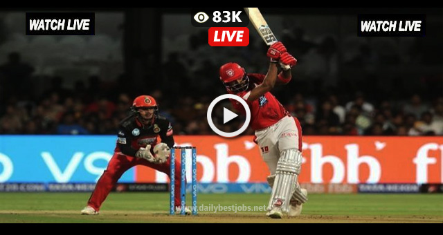 KXIP vs RCB Live Streaming Online Live Cricket Scores IPL 2018
