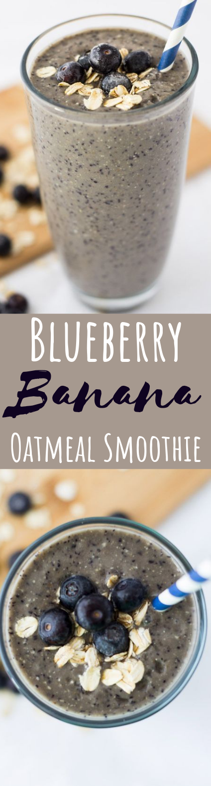 Blueberry Banana Oatmeal Smoothie #drinks #healthy