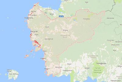 Peta Wilayah Provinsi Kalimantan Barat