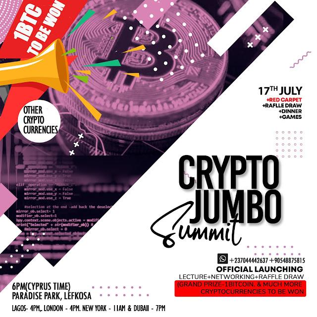 Jumbo!!! Jumbo!!! Jumbo!!! Something great and big is coming to town with Crypto Jumbo Summit