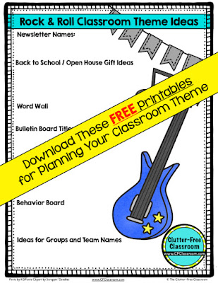 Rock and Roll Themed Classroom - Ideas & Printable Classroom ...