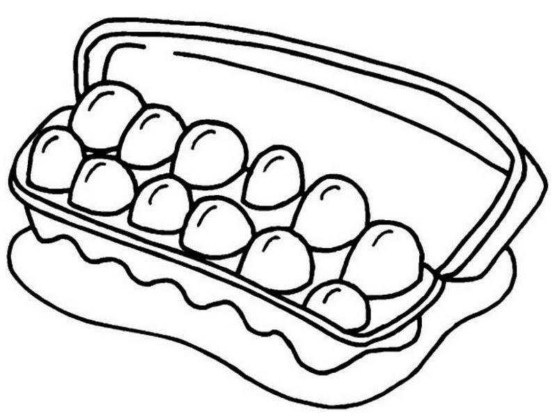 Cartón De Huevos Para Colorear 4 Dibujo