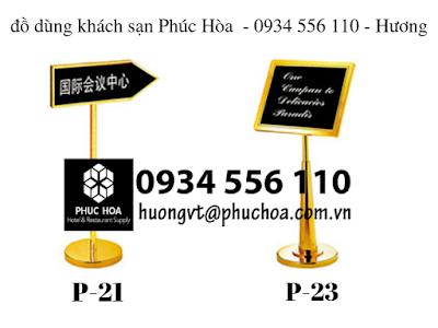 Biển báo chỉ dẫn khách sạn, tòa nhà, bảng menu nhà hàng 2019