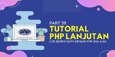 Live Search Data Dengan PHP Dan AJAX