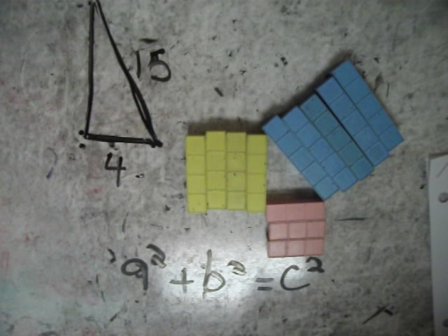 Pythagorean Theorem, base 10 blocks, math materials