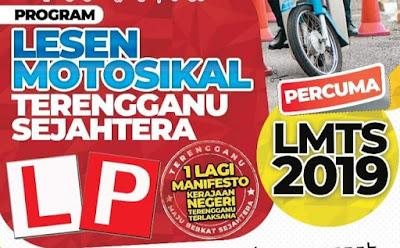 Semakan Lesen Motosikal Percuma Terengganu Sejahtera 2019