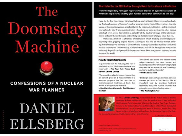 Daniel Ellsberg's Book: The Doomsday Machine - Confessions of a Nuclear War Planner - Publisher: Bloomsbury