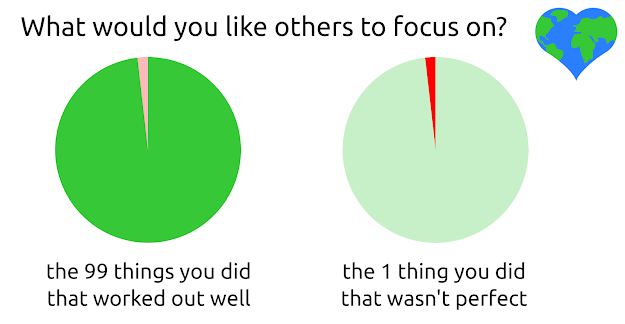 Focus on what went well vs what wasn't perfect, sustainable living, sustainability, climate action