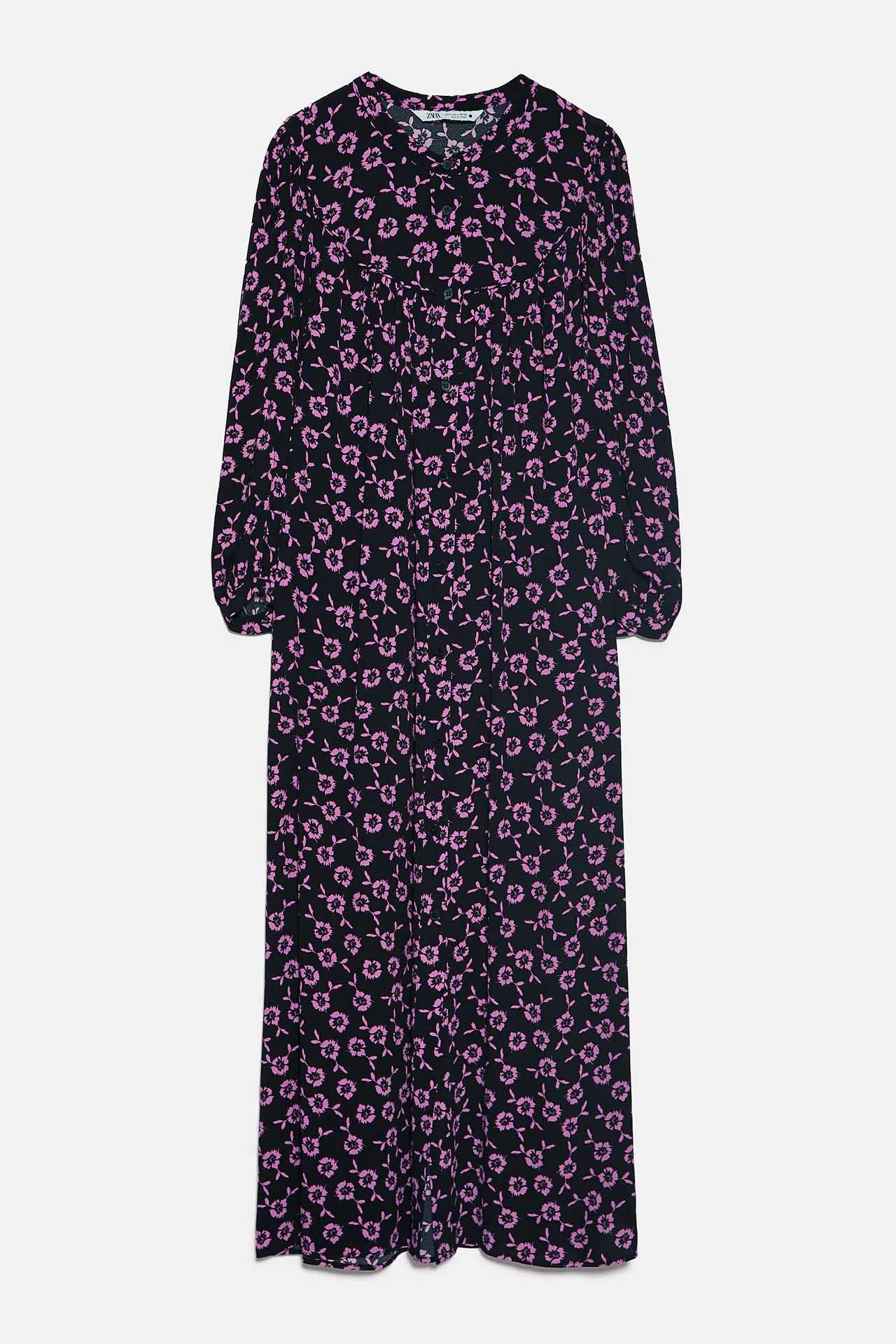 Vestidos midi Zara invierno 2021