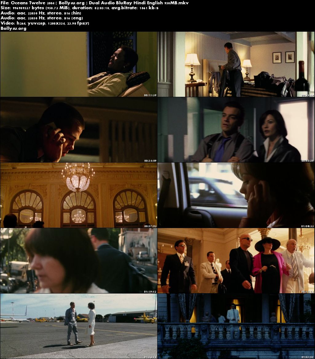 Oceans Twelve 2004 BluRay 400MB Hindi Dual Audio 480p Download
