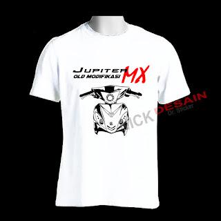 Kaos OJMX Putih Motif Hitam