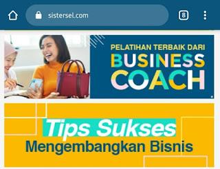 Business coach dari sistersel (source: sistersel.com)