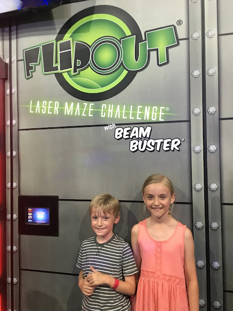 laser maze at Flip Out Brent Cross
