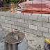 Masonry wall block construction