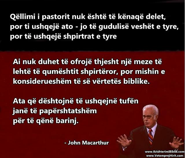 pastori, kisha ungjillore, predikim, thenie biblike, macarthur shqip,