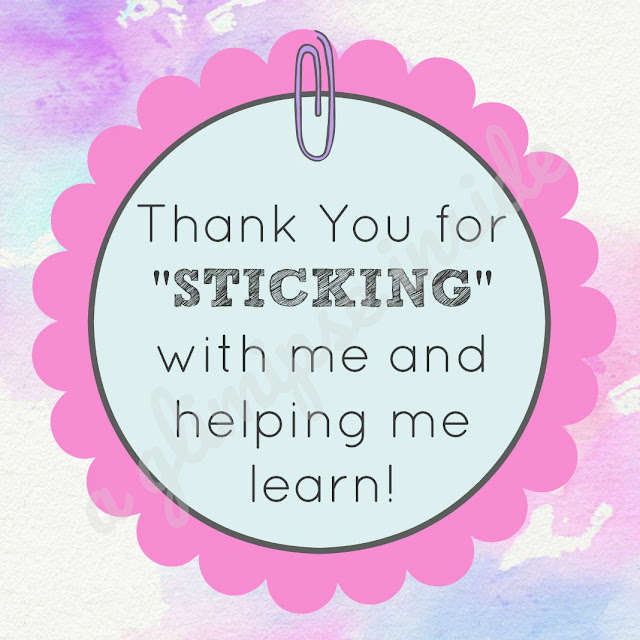 """Sticking with Me"" Teacher Appreciation Gift and Printable Tag"