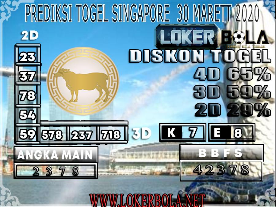 PREDIKSI TOGEL SINGAPORE LOKER BOLA 30 MARET 2020