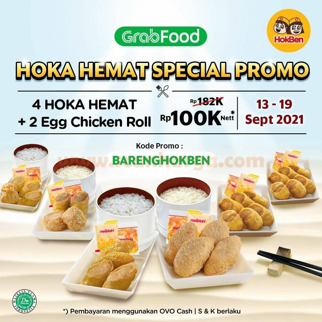 Promo HOKBEN GRABFOOD Periode 13 - 19 September 2021