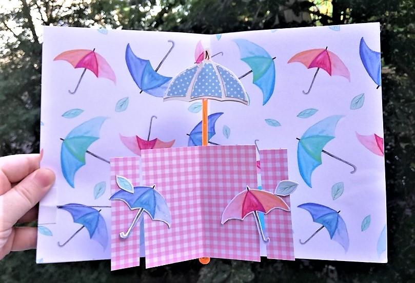 окончания зонтик для открыток режущая дуга
