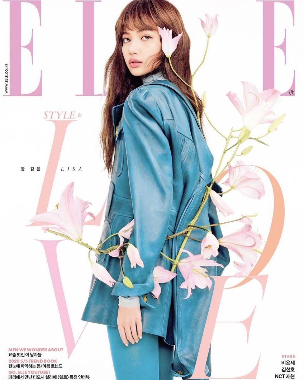 BLACKPINK's Lisa is a flower among flowers for 'Elle Korea' magazine