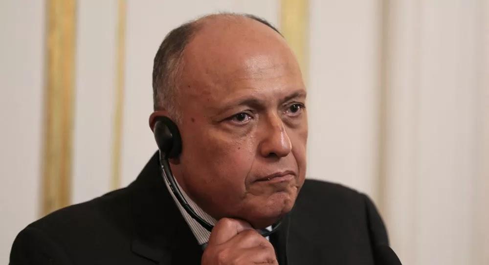 وزير الخارجية المصري يلتقي نظيره الإسرائيلي ويؤكد على ضرورة التحرك العاجل