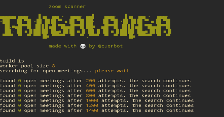 Tangalanga : The Zoom Conference Scanner Hacking Tool