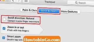 change scroll direction mac trackpad 3