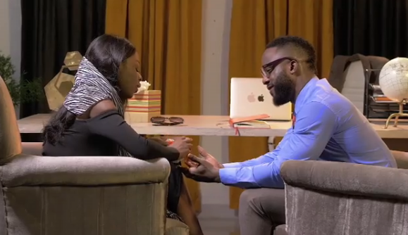 Diane-kisses-Iyanya-in-The-Therapist