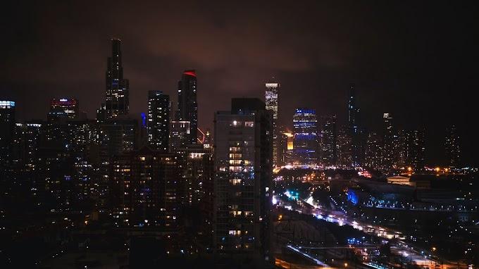 Arranha-céus, Cidade Noturna, Edifícios, Luzes