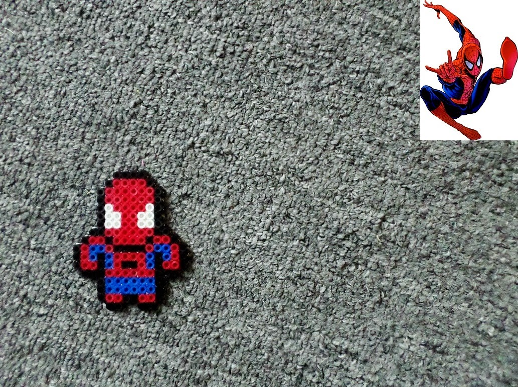 Hama Beads Spiderman: Long Black Fingers : Spiderman Perler Bead (mini