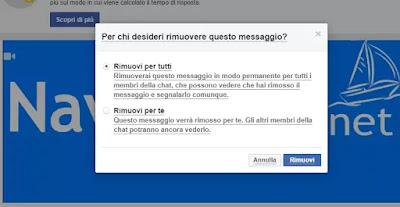 cancellare invio messaggio