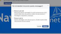 Cancellare messaggi inviati su Facebook, Messenger e Chat