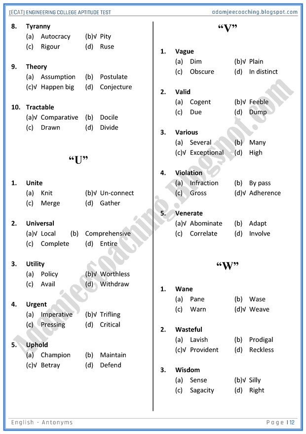 ecat-english-antonyms-mcqs-for-engineering-college-entry-test