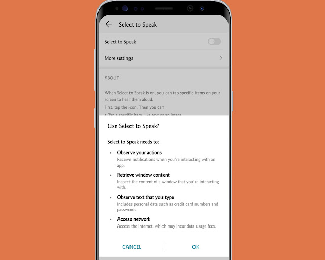 Text To Speech  - hidden android features