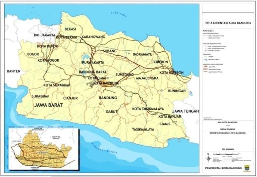 Kondisi Geografi Kota Bandung - Geografi.org