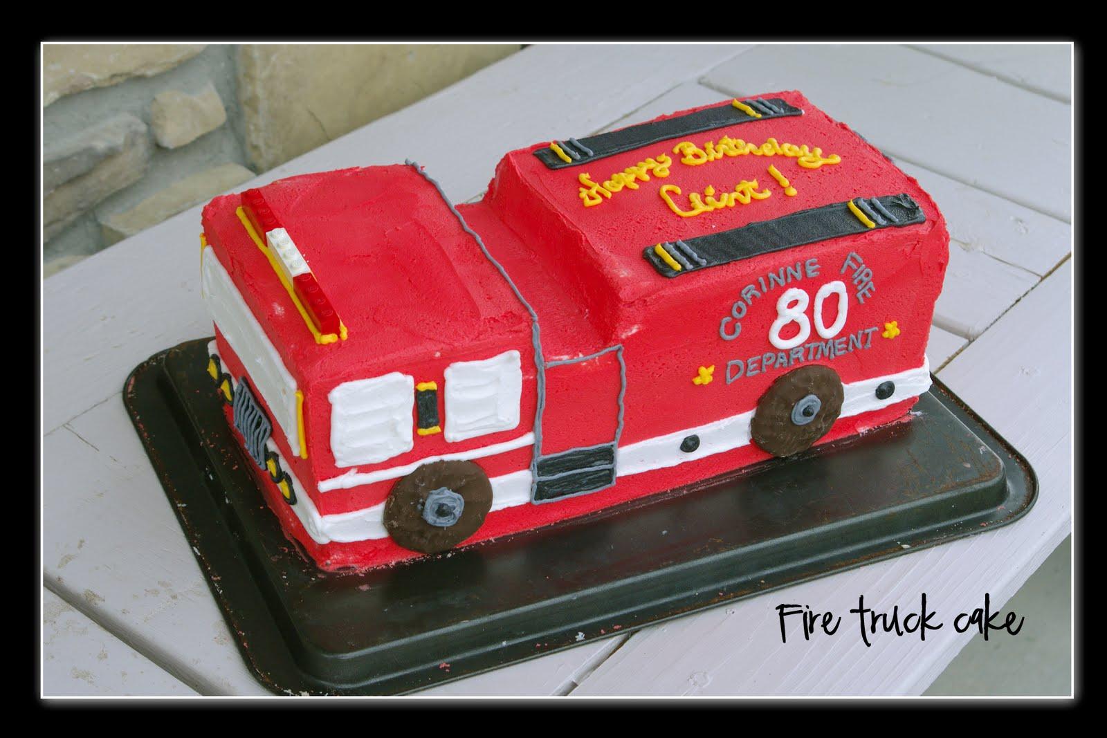 Fire Truck Birthday Cake Recipe